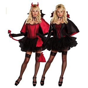 Devil's Night With a Bite Sexy Reversible Costume